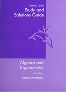 By ron larson trigonometry 4th fourth edition aa study and solutions guide for algebra and trigonometry 6th edition fandeluxe Choice Image