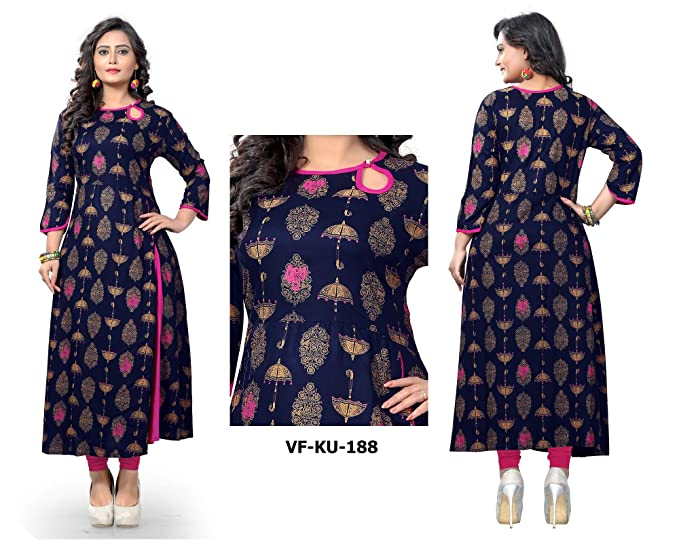 Women Printed Kurti Dress for Formal & Party Wear