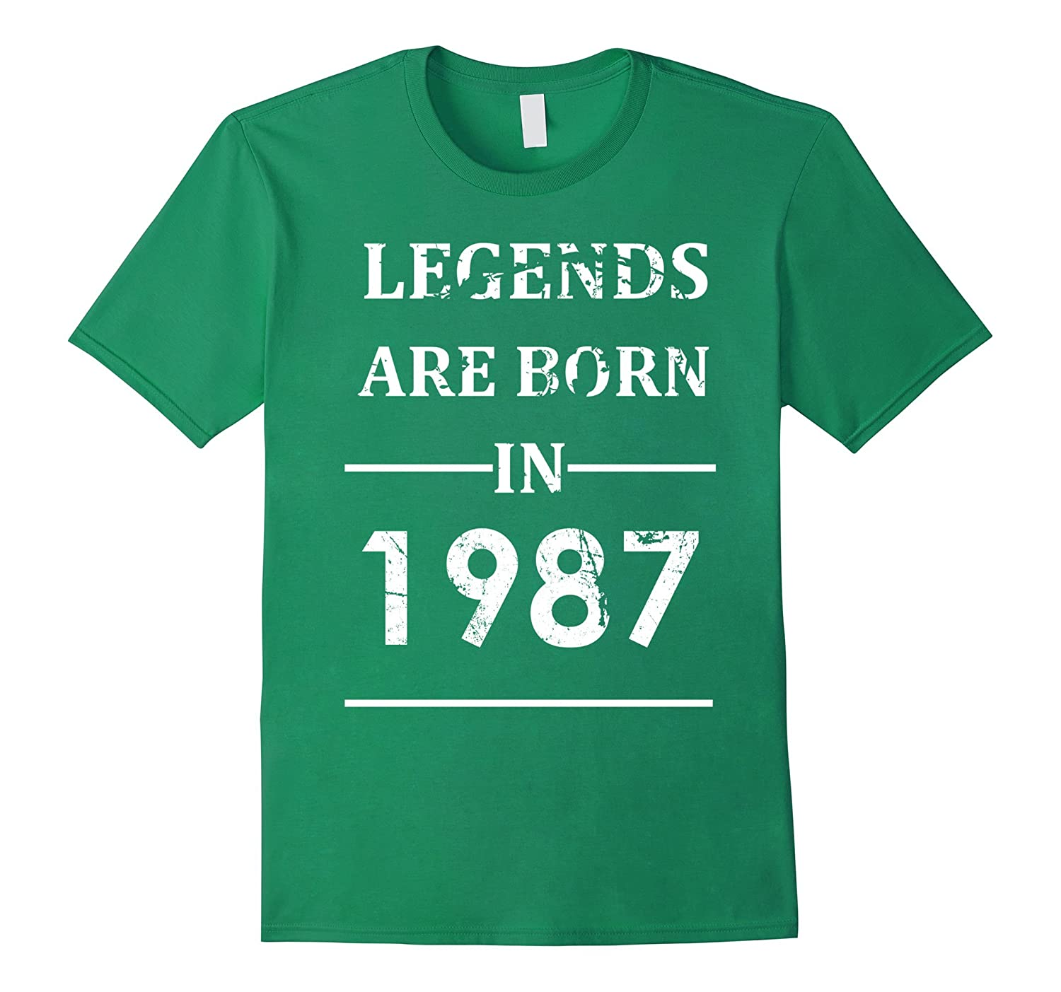 Legends Are Born In 1987 T-shirt Funny Birthday Gift Vintage