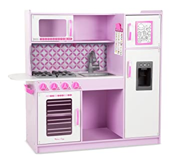 Amazon.com: Melissa & Doug Wooden Chef\'s Pretend Play Toy Kitchen ...