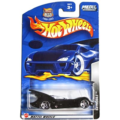 HOT WHEELS METAL COLLECTION 35 YEARS ON CARD NO NUMBER CHROME BASE BATMAN BATMOBILE DIE-CAST COLLECTIBLE: Toys & Games
