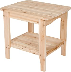 Shine Company Rectangular Side Table, Large, Natural