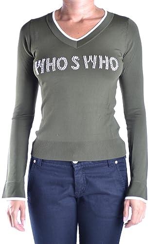 Who's Who Mujer MCBI312003O Verde Algodon Jersey
