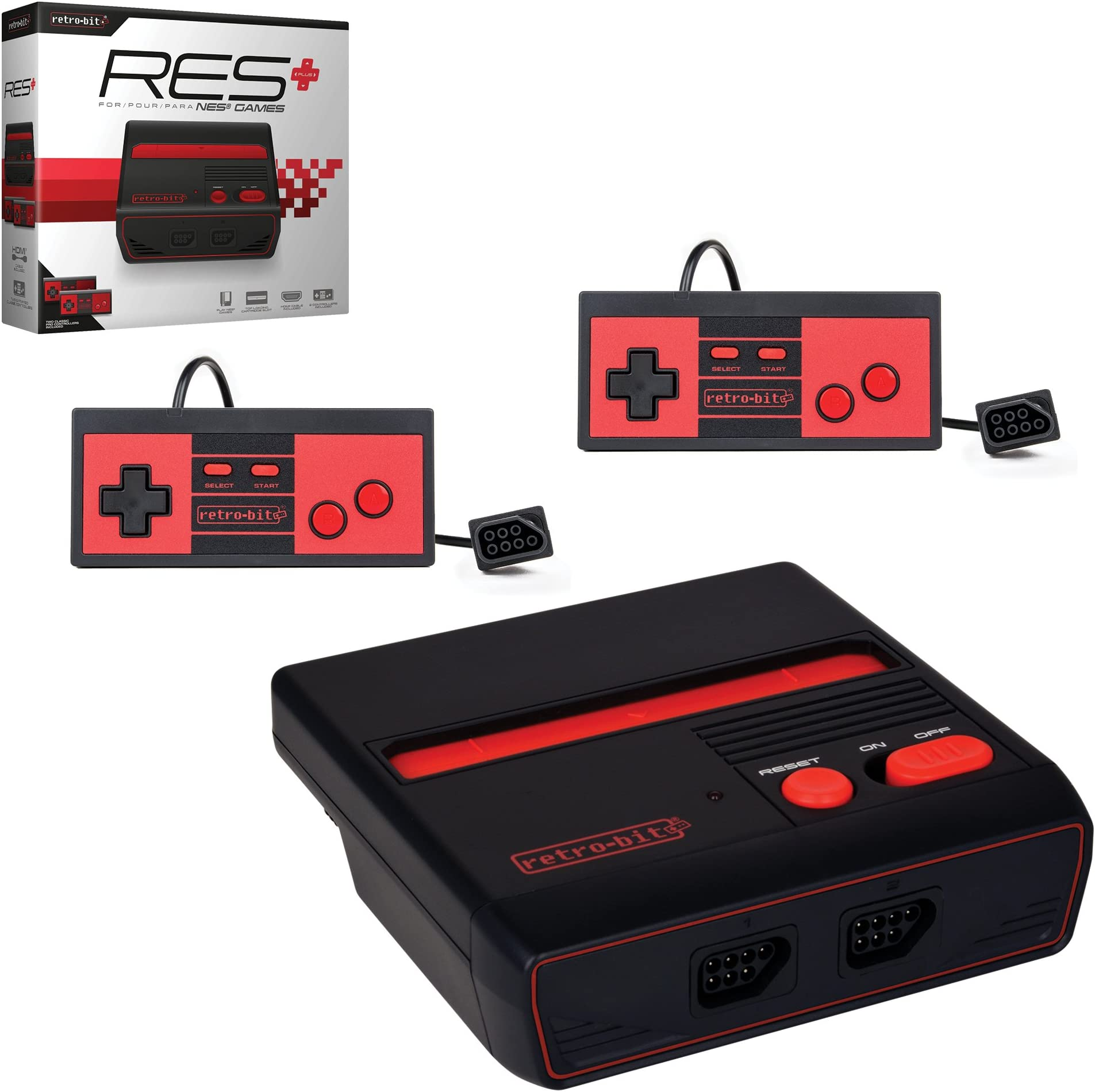 Amazon com: Retro-Bit RES Plus- 8-Bit Console with HDMI Port