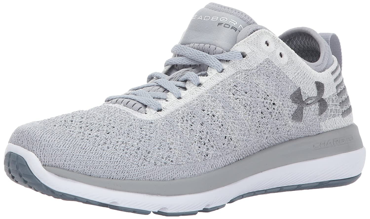 Under Armour Women's Threadborne Fortis Running Shoe B01MSYE8MX 10 M US|Overcast Gray (103)/White