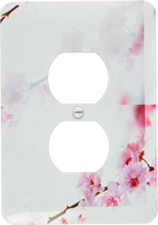 3drose Lsp 60932 6 Inspired Pink Cherry Blossom Flowers Floral Print Light Switch Cover Outlet Plates