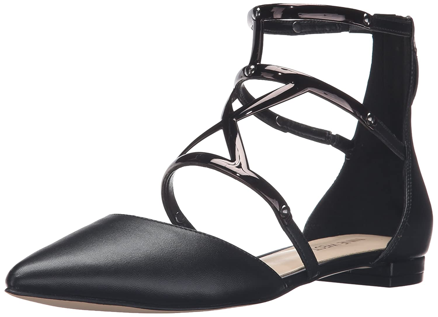 Nine West Women's Activista Synthetic Pointed Toe Flat B01ERP69F8 7.5 B(M) US|Black