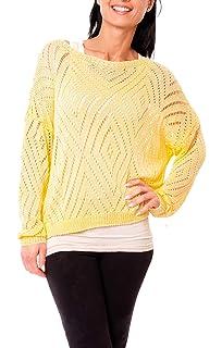 32 bis 50 neu 33770 Damen leichter Pullover mit Ajour-Muster in creme beige  Gr