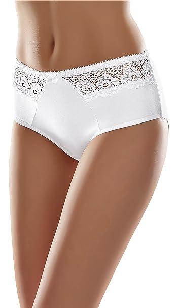 Merry Style Bragas Slip Bóxer Ropa Interior Mujer MSGAB63 (Blanco, 38 (Tallas del