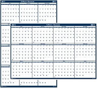 product image for House of Doolittle Laminated Write-On/Wipe-Off Wall Planner, January 2011 to December 2011, 32 x 48 Inch, Vertical or Horizontal, Recycled (HOD3961) 2018