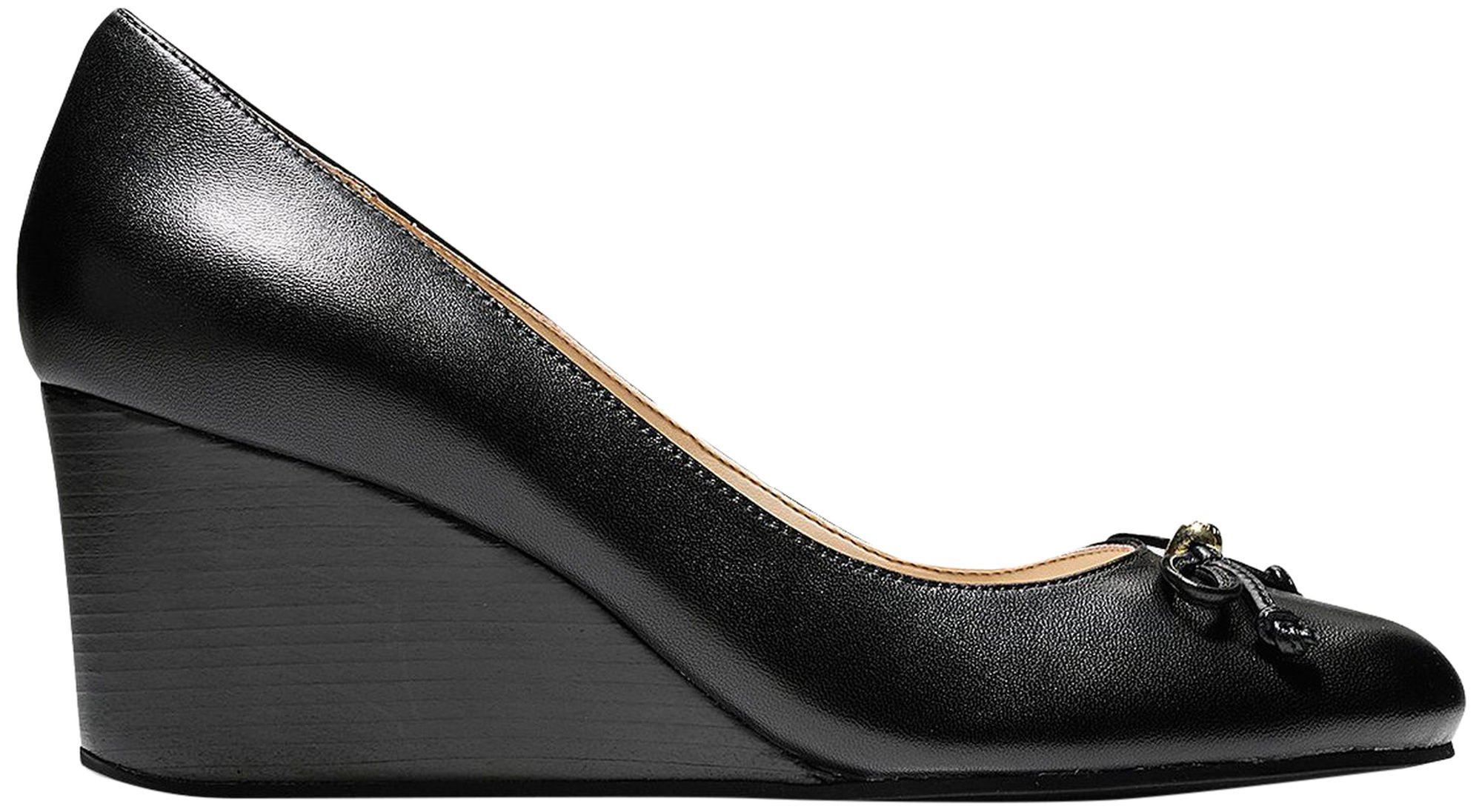 Cole Haan Womens Elsie Lace Wedge 65mm 9.5 Black Leather