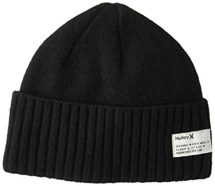 002644911c Amazon.com: Hurley Men's Shoreman Knit Beanie, Black One Size: Clothing