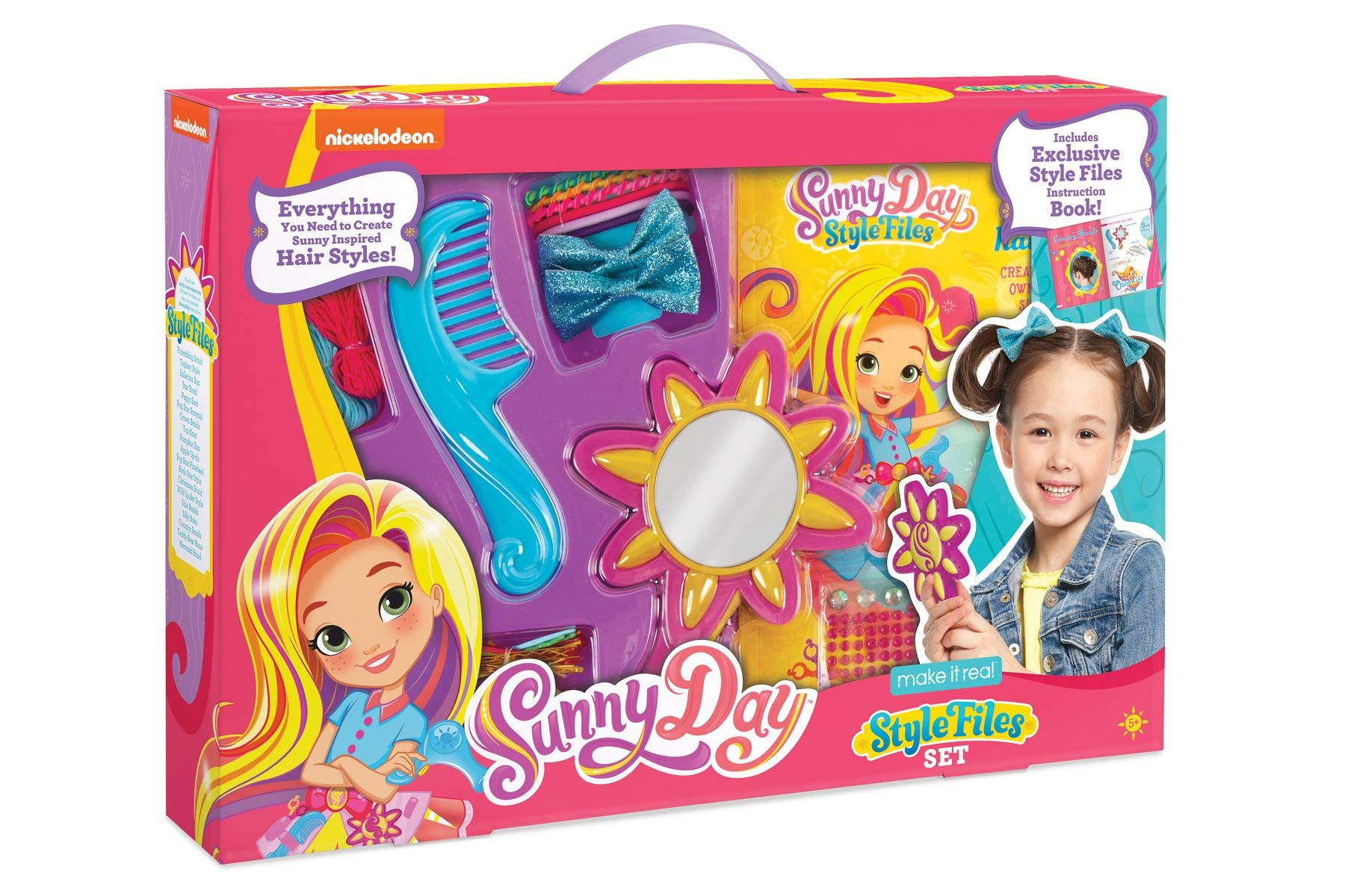 Make It Real - Sunny Day Style Files Set. DIY Fashion Hairstyle and Accessories Set for Little Girls Inspired by Nickelodeon's Sunny Day by Make It Real