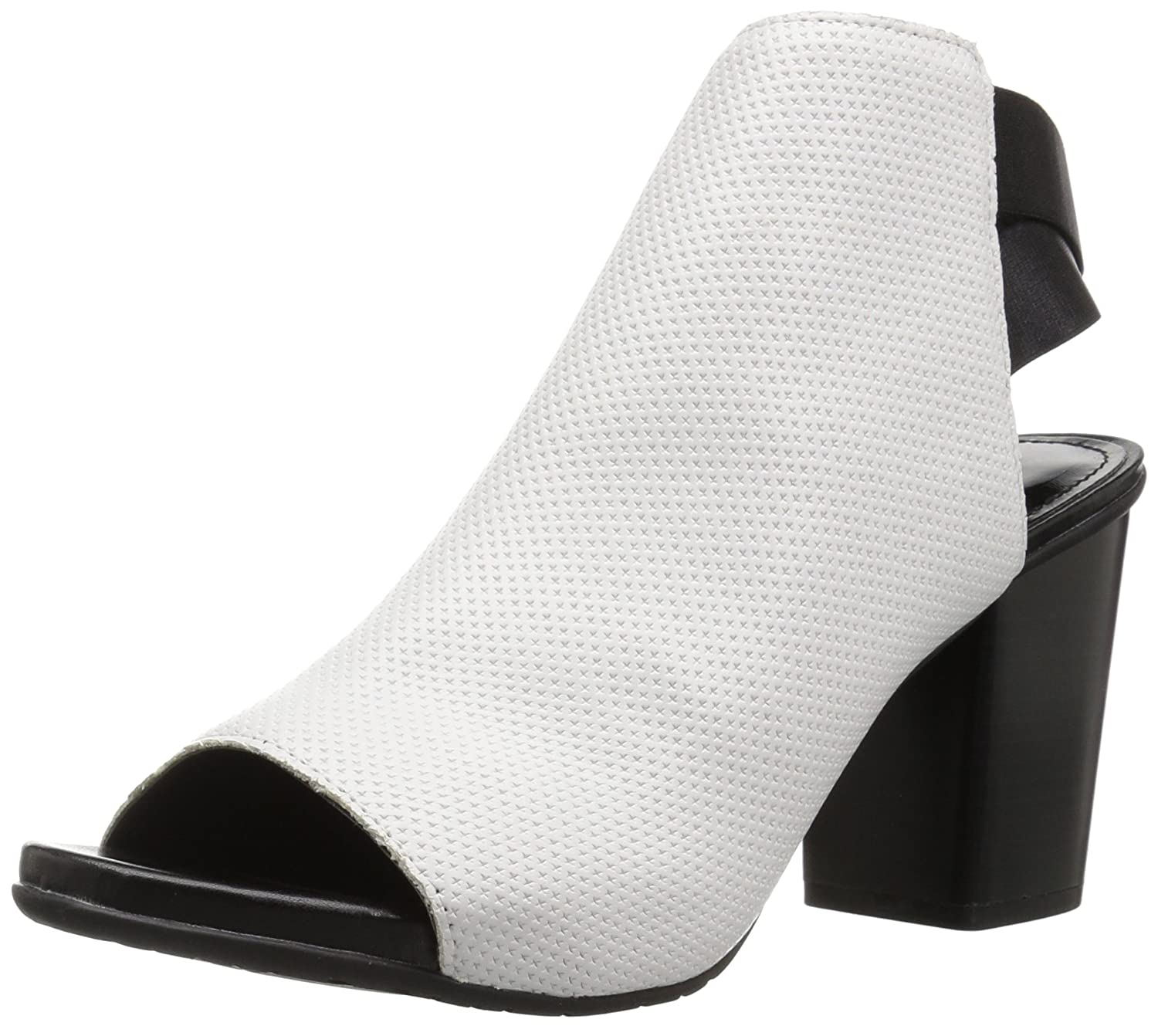 Kenneth Cole REACTION Women's Fridah Fly Toe and Open Heel Bootie Ankle Boot B077Y8GVJY 5 B(M) US|White