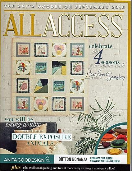 Anita Goodesign ALL ACCESS VIP Club OCTOBER 2019 Embroidery Design CD /& BOOK