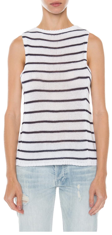 Rails Jenna Knit Tank in White/Navy