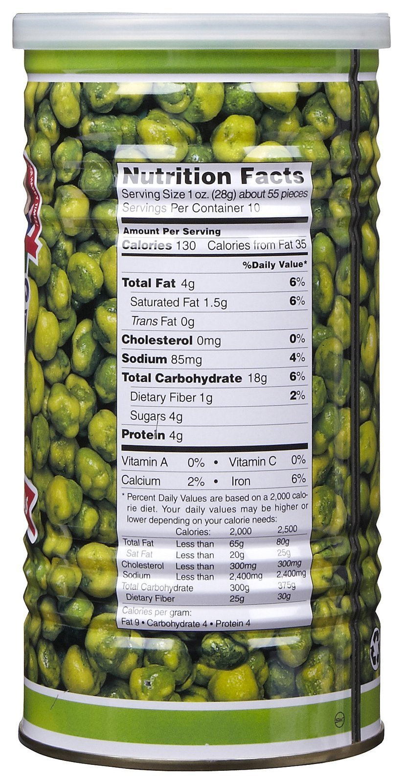Hapi Hapi Hot Wasabi Peas, Tins, 9.9 oz by HAPI (Image #2)