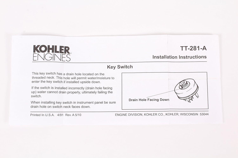 Kohler Genuine 25 099 37 S Key Switch Assy Fits Command Engine Ignition Wiring Ch Pro Ech Oem Garden Outdoor