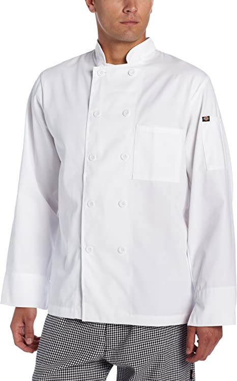 XXX-Large Dickies Chef Classic 8 Button Coat Black