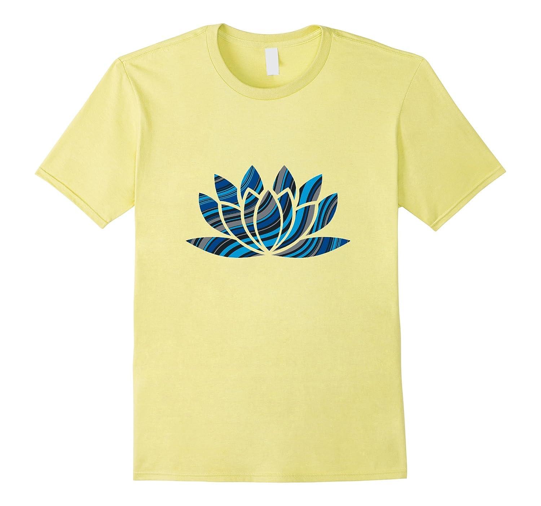 Funky Abstract Lotus Flower Yoga Namaste Om T Shirt Pl Polozatee