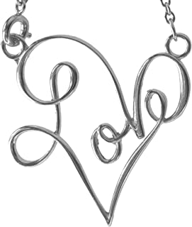 product image for From War to Peace Love Pendant Necklace Silver-Dipped on Rolo Chain