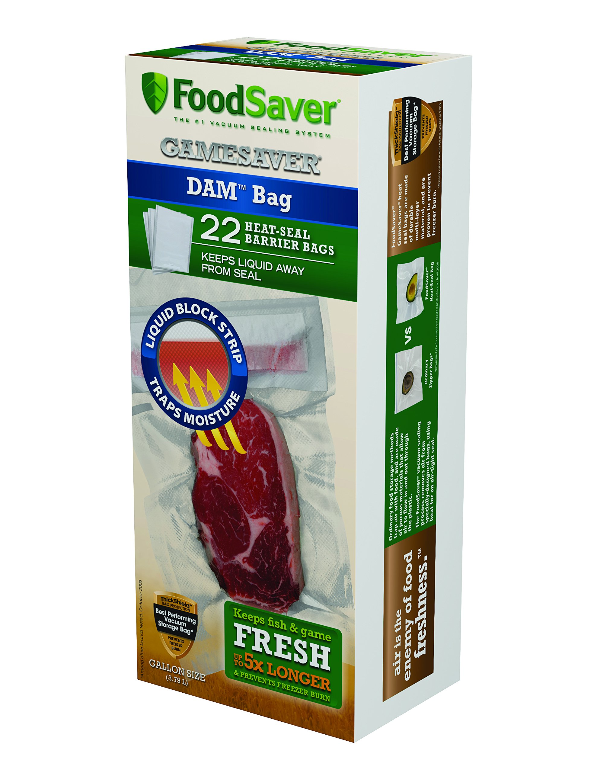 FoodSaver 1-Gallon DAM Bags, 22 Count