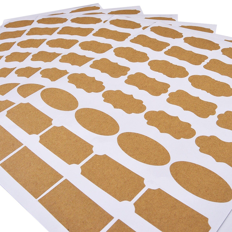 Essential Oil Bottle Marker Labels-Fancy Kraft Paper Stickers For Cosmetic Classification (6sheet-192pcs) by Elandy (Image #9)