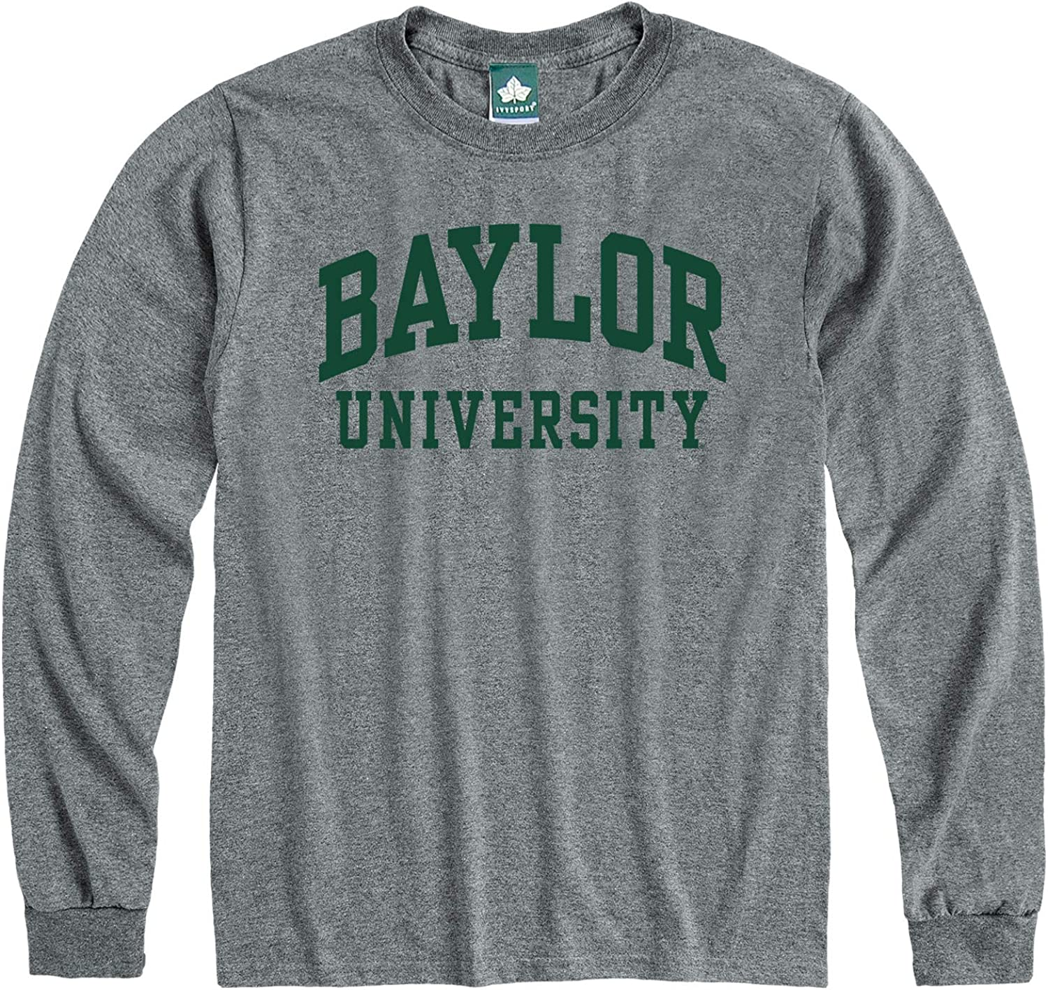 NCAA Colleges and Universities Classic Arch Logo Ivysport Long Sleeve T-Shirt Adult Grey