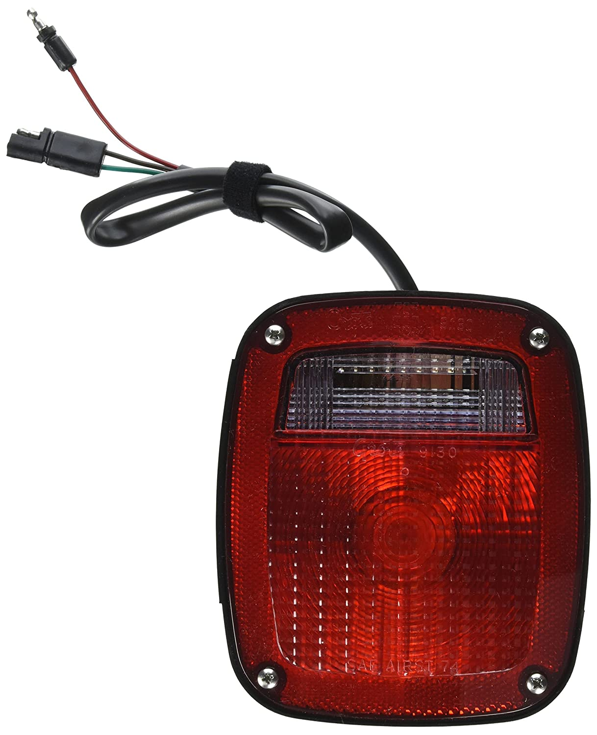 Grote 52972 Red Two-Stud Ford Stop Tail Turn Light w// Pigtail /& Molded Plug