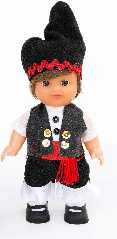 Amazon.es: Folk Artesanía Muñeca Regional colección de 15 cm con Vestido típico Gallego Galicia España.: Juguetes y juegos