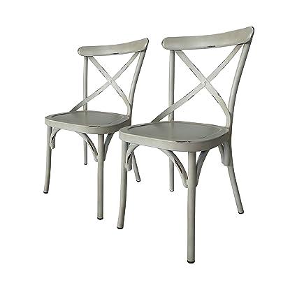 Amazon.com: Carabelle Villa Vintage aluminio blanco interior ...