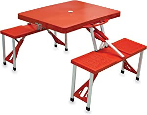 ONIVA - a Picnic Time Brand Portable Folding Picnic Table with Seating for 4, Red