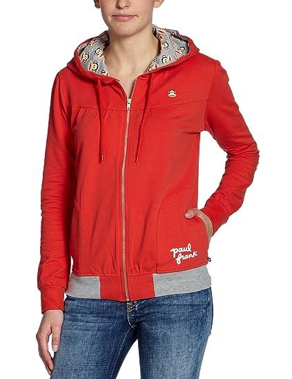 Paul Frank - Sudadera para mujer, tamaño XS, color rojo