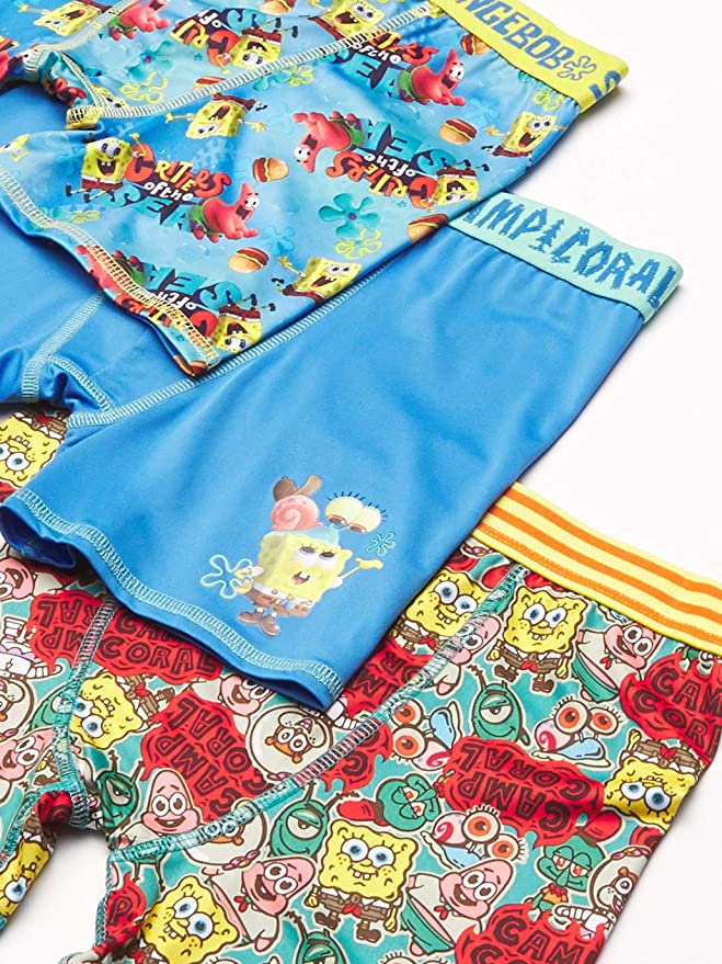 SB 5pk Brief SpongeBob Squarepants Boys Underwear Multipack 4