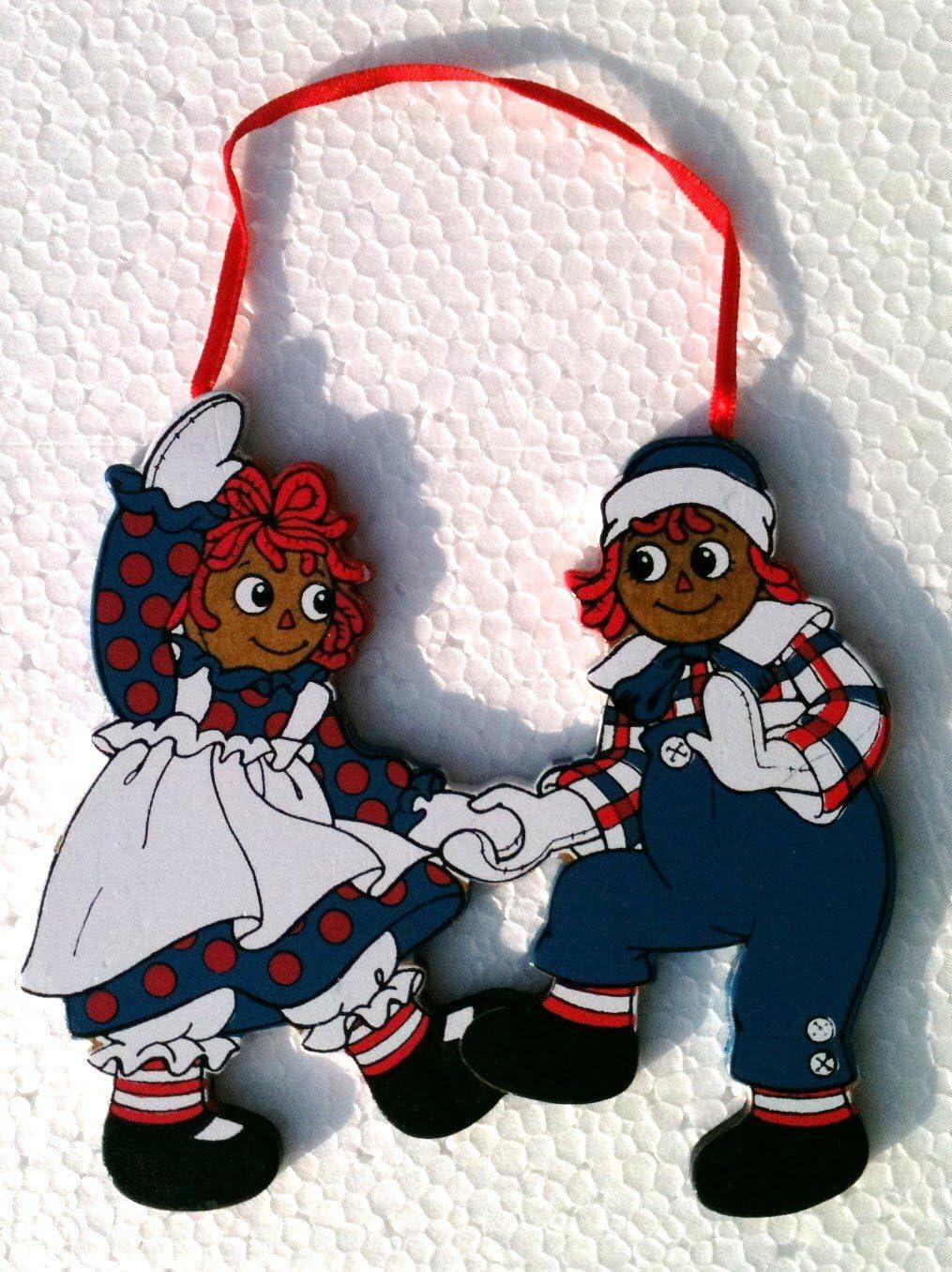 Raggedy Ann & Andy Ornament.Dancing.Vintage 1991 (Kurt S Adler) Sealed