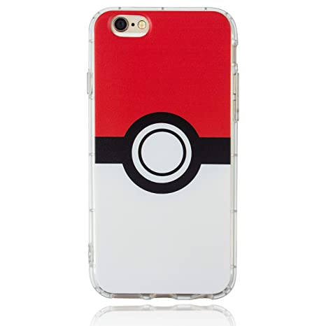 Amazon.com: BRILA iPhone 6 6S Pokemon Funda, Pokeball Patrón ...