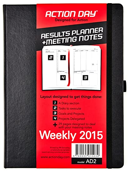 amazon com action day weekly planner 2015 size 8x11 layout
