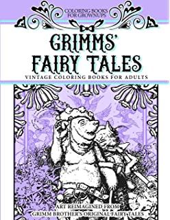 coloring books for grownups grimms fairy tales vintage coloring books for adults art reimagined