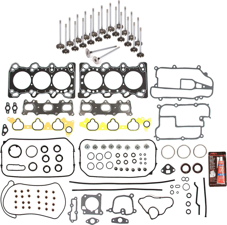 Full Gasket Set Intake Exhaust Valves Fit Acura TL Legend 3.2L C32A1 C32A6 SOHC