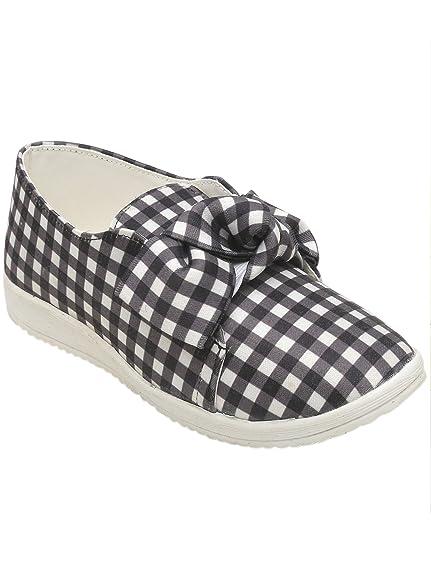 encanto de costo completo en especificaciones nuevo diseño D'chica Chic Check Bow Slip Ons for Girls Sneakers: Buy ...