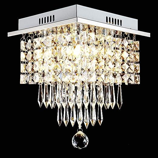 Glighone Lampadario Di Cristallo Moderno Lampada A Sospensione Raffinata Illuminazione A Soffitto Plafoniera Decorativa Per Soggiorno Sala Corridoio