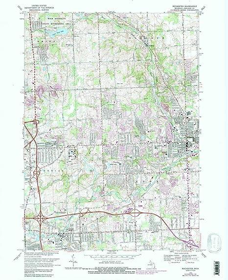 Amazon Com Yellowmaps Rochester Mi Topo Map 1 24000 Scale 7 5 X