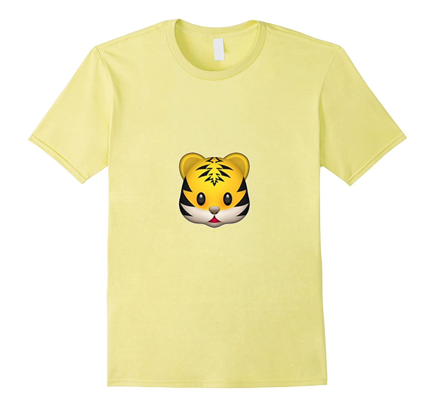 Tiger Emoji T-Shirt Lion Zoo Fast Cute Adorable Pet Animal