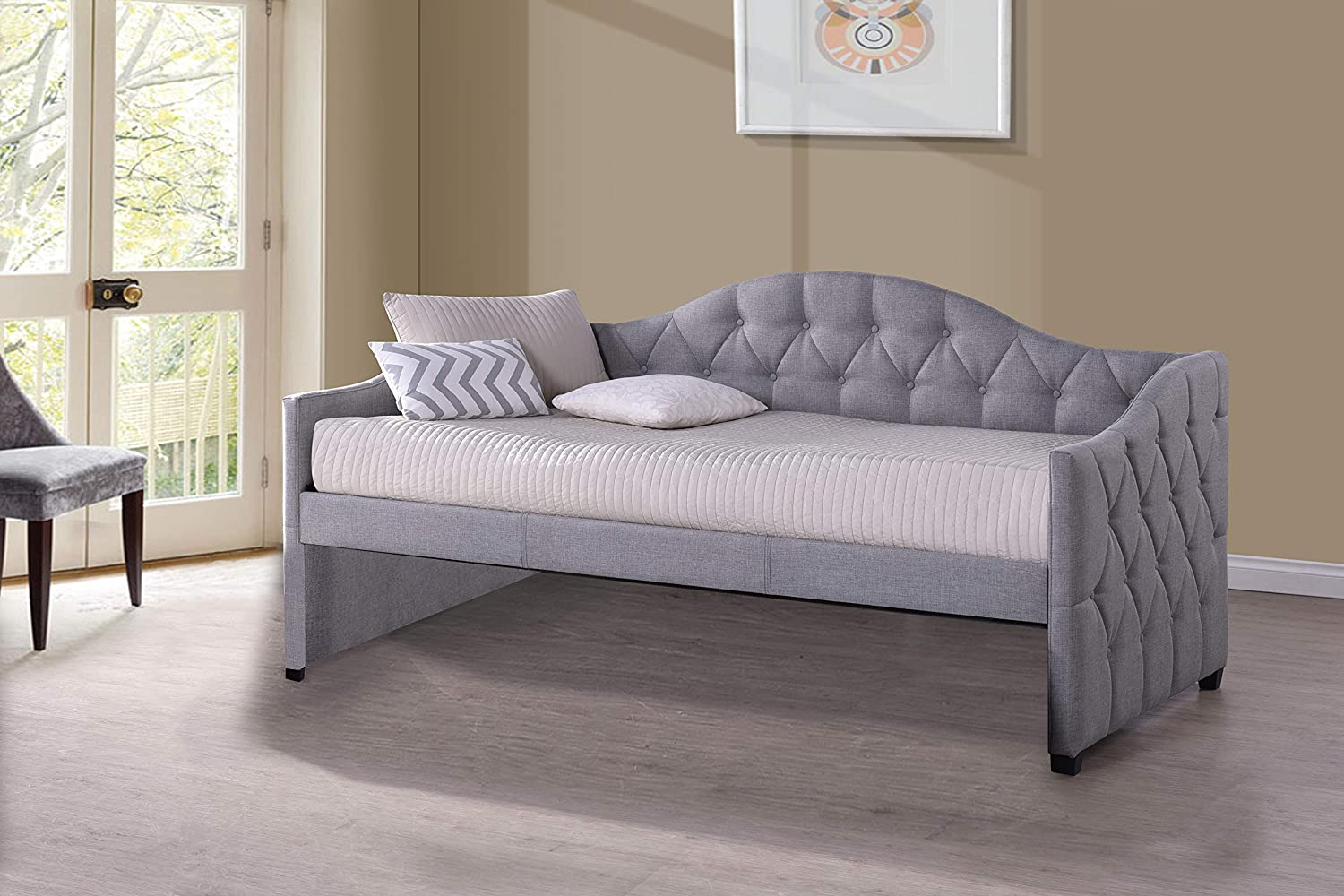 Hillsdale Furniture Jamie Tufted Daybed, Gray