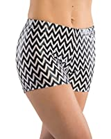 DanzNmotion by Danshuz Women's Print Booty Shorts
