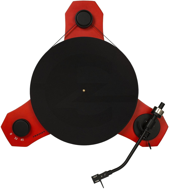 Crosley C3 - Tocadiscos de Dos velocidades, Color Negro y Rojo ...