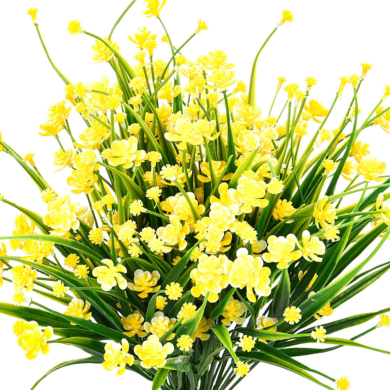 hicarer 6ピース人工フェイク花の装飾フェイクイエローDaffodils人工植物のホームガーデンデコレーション B07D4BBRS2