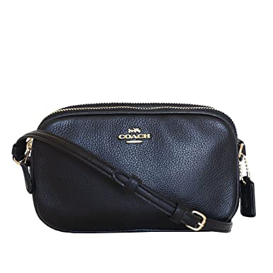 ab9ea1d31a71 Image Unavailable. Image not available for. Color  New Coach F30259  Crossbody Pouch In Pebble Leather Black