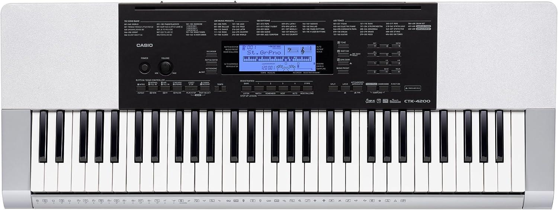Casio CTK-4200 - Teclado MIDI (USB, 4,599 kg, 648 x 350 x 102 mm) Negro, Plata