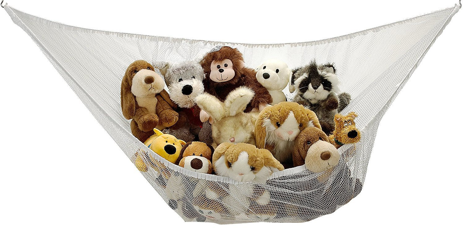 Amazon.com : Jumbo Toy Hammock - Organize stuffed animals or children's toys  with the mesh hammock. Looks great with any dcor while neatly organizing  kid's ...